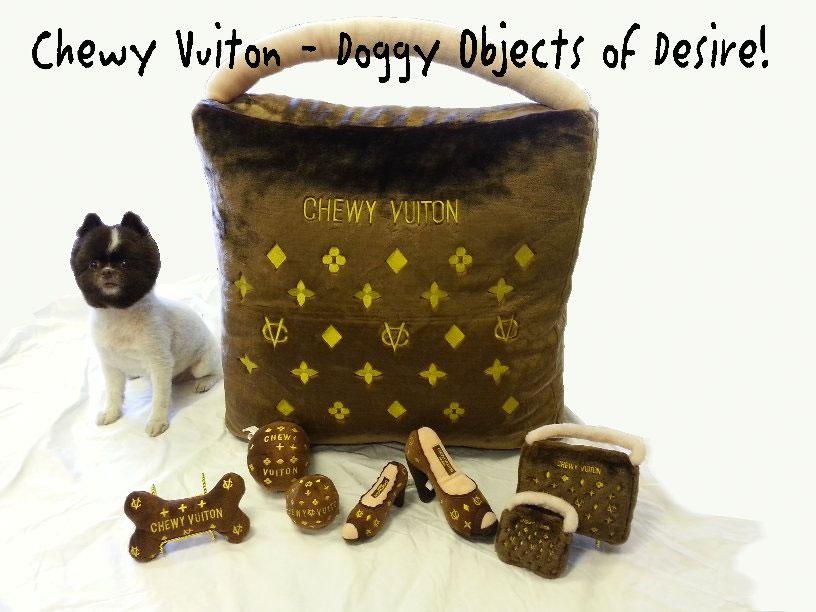 Chewy Vuitton Bone Dog Toy Designer Puppy Boutique At