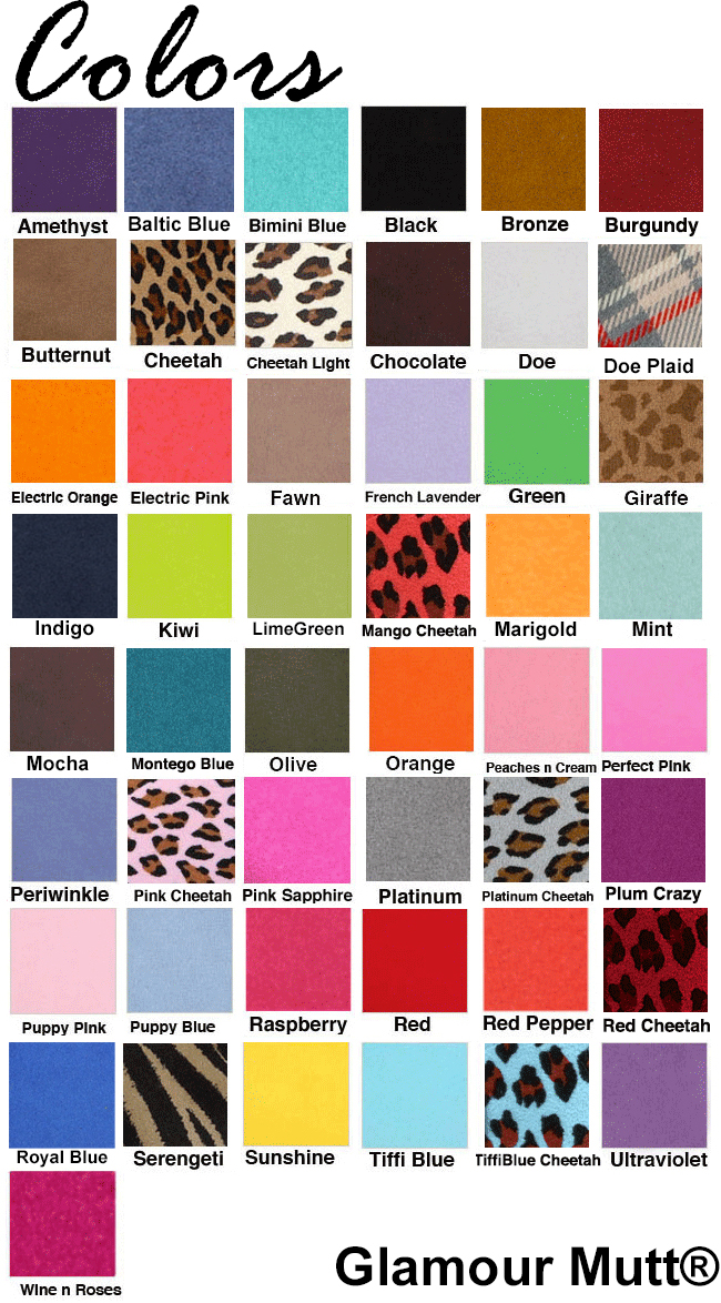 Designer Dog Boutique Swatches