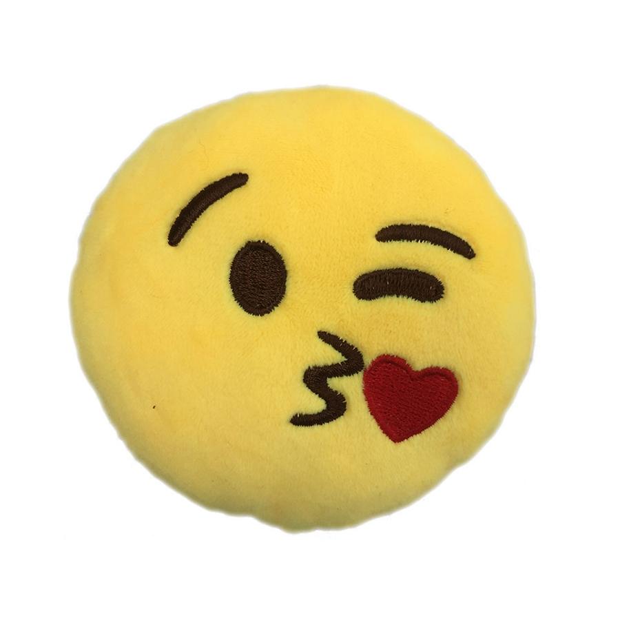 Kissy Face Emoji Dog Toy