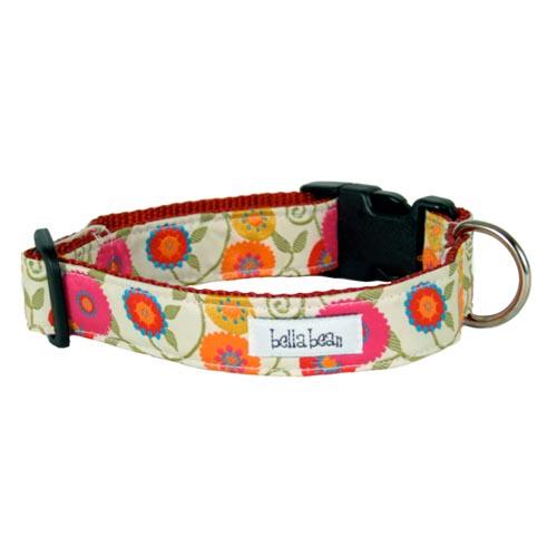 ... Ribbon Dog Collar Vivid - Designer Dog Collars at Glamourmutt.com: http://www.glamourmutt.com/Floribunda-Grosgrain-Designer-Dog-Collar-Vivid_p_507.html