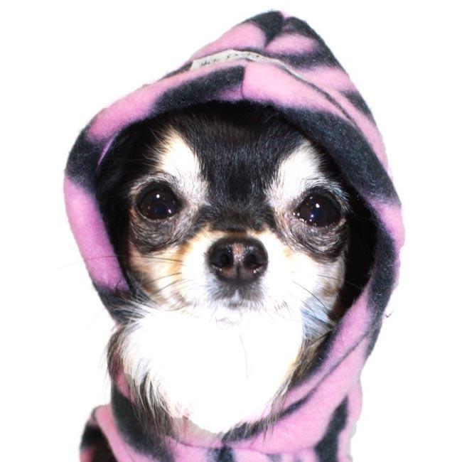 Polar Fleece Dog Hoodie Cherry | Designer Dog Clothes at Glamourmutt