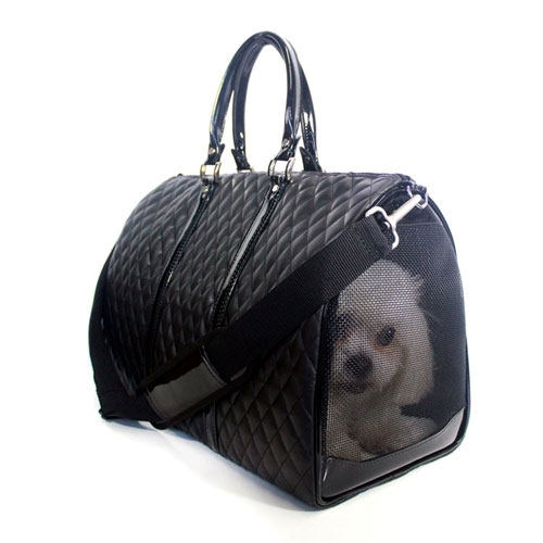 Quilted Luxe Jl Duffel Tote Dog Carrier By Petote At