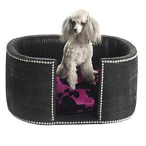 Studded Designer Dog Lounger Bed