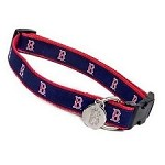 Boston Red Sox Ribbon Dog Collar