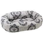 Microvelvet Donut Dog Bed - Classic Grey Chateau