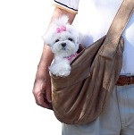 Cuddle Dog Carrier by Susan Lanci - Fawn Luxe Suede