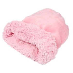 Cuddle Cup Dog Bed - Pink Shag