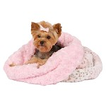 Cuddle Cup Dog Bed - Pink Lynx