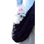 Cuddle Dog Carrier by Susan Lanci - Black Luxe Suede