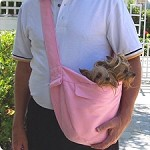 Cuddle Dog Carrier by Susan Lanci - Pink Luxe Suede