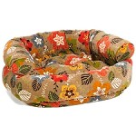 Microvelvet Double Donut Dog Bed Sofa - Garden