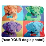 Doggy Warhol Custom Portrait Dog Bed