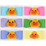 Jumbo Ducky Ultrasuede Hair Bow- 20 Colors