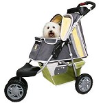 First Class 3-Wheeled Sporty Dog Stroller- Yellow