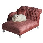 Hepburn Crystalline Dog Bed - Pink