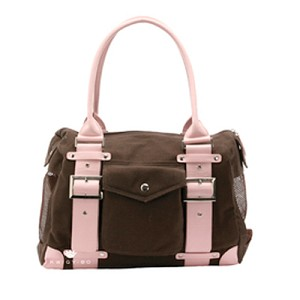London Dog Carrier by Kwigy Bo - Brown and Pink