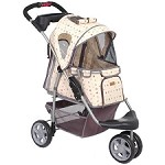 Luxury Monogram First Class Sporty Dog Stroller- Yellow