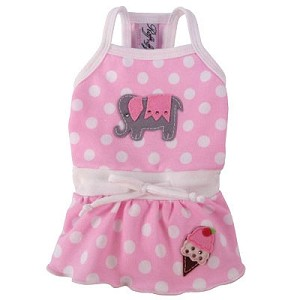 Mon Petit Elephante Pink Dog Dress