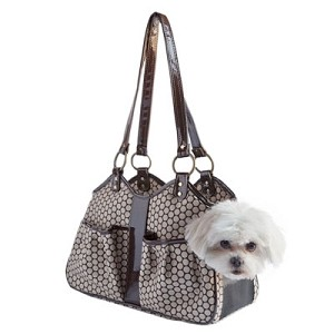 Metro Dog Carrier by PETote - Noir Dots and Espresso