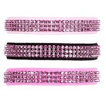 Pink Rose Swarovski Crystal Dog Collar - 20 Colors
