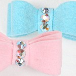 Swarovski Crystal Ultrasuede Hair Bows by Susan Lanci - 32 Colors