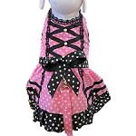 Polka Pink Harness Dog Dress