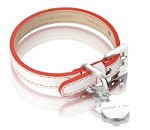 Polo Leather Dog Collar - Red/White