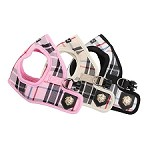 Classic Preppy Dog Harness - Pink, Beige, Black