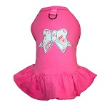 Pretty Bow Dog Harness Dress