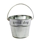 "Silver ""Good Dog"" Bucket by Harry Barker"