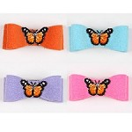 Butterfly Swarovski Crystal Hair Bows- 20 Colors
