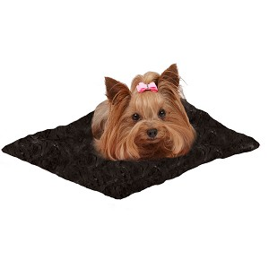 Susan Lanci Dog Carrier Blanket - Midnight Black