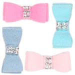 Giltmore Swarovski Crystal Ultrasuede Hair Bows - 34 Colors