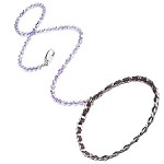 Haute Couture Swarovski Crystal Dog Leash - Tanzanite