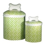 Trellis Green Treat Jars