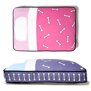 Tuck-Me-In Dog Bed - Purple, Pink