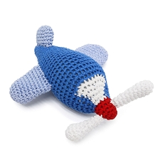 Airplane Crochet Dog Toy