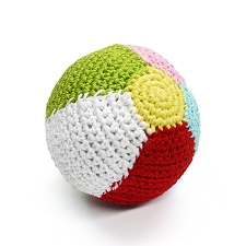 Beach Ball Crochet Dog Toy