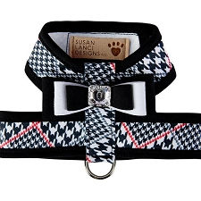 Big Bow Two-Tone Tinkie Harness- Classic Glen Houndstooth