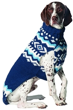 Blue Nordic Sweater by Chilly Dog