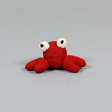 Crab Cotton Crochet Dog Toy
