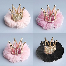 Crown Tutu Dog Barrette- 5 Colors