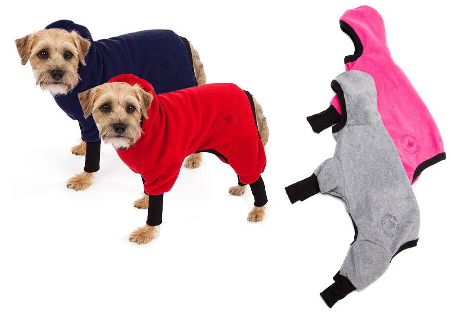 Four Legged Polar Fleece Dog Track Suit By Canine Styles