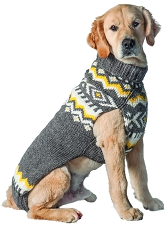 Grey Nordic Sweater by Chilly Dog