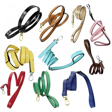 Italian Leather Luxury Dog Leashes- 22 Colors