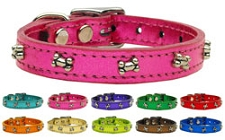 Metallic Bone Leather Collars- 9 Colors