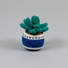 Potted Plant Cotton Crochet Dog Toy
