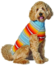 Turquoise Serape Sweater by Chilly Dog