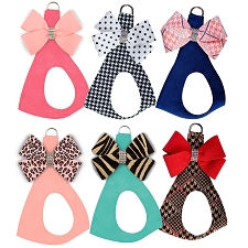 Two-Tone Nouveau Bow Step-In Harness- Custom Colors