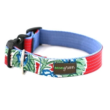Agua Fresca Oilcloth Dog Collar by Mimi Green